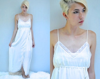Silk Nightgown  //  Vintage White Nightie  //   THE GIVENCHY