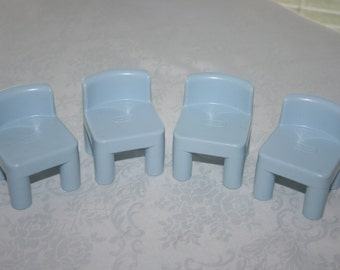 Vintage Little Tykes Set of Four Chairs Furniture Doll House