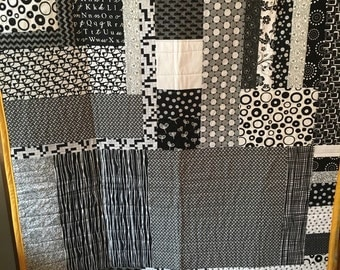Black and White Modern Quilt