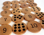 Counting cookies wood toy, montessori learning, waldorf math, math game, learning, educational
