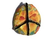 Peace Sign Pin, Alien Face Peace Sign, Cool Peace Sign, Reuse Bottle Cap,OOAK Frugal Peace Upcycled Pin, - shipping included
