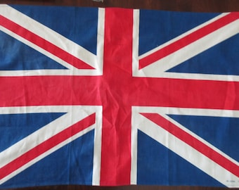 vintage cotton Dish Towel - flag, England, English