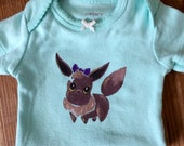 Pokemon inspired Eevee newborn girls onesie