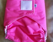 Ready to Ship - Diaper Cover - Velcro - Bubblegum Pink