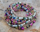 Shine on - Stretch Beaded Festival Bracelets, Colorful beaded bracelets, Boho, Hippie, 9 Stack bracelet set