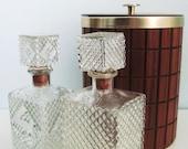 Mid Century Mod Bar Ware Teak Wood Ice Bucket