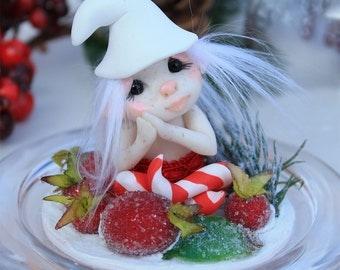 Christmas decoration Santa's helper elf troll fae gnome ooak art doll