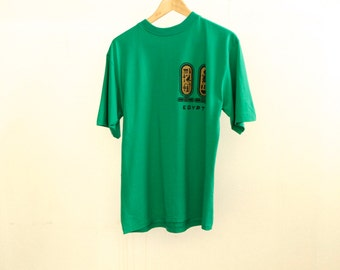 vintage EGYPT super soft KELLY green ANCIENT gods and aliens shirt