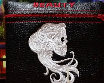 Beauty or beast make up bag