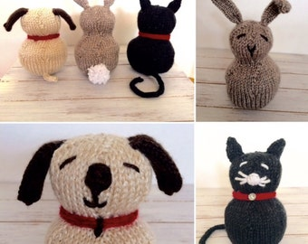 Petting Zoo Stuffed Animal Toy - Knitting PATTERN - Easy Pattern - Great for the Advanced Beginner