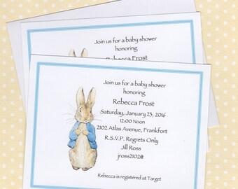 Peter Rabbit Birthday Invitations Gangcraft Net