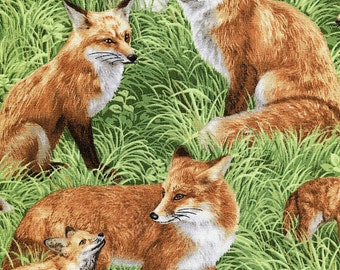 Red Foxes - Fabriquilt - Half Yard