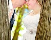 Bridal Bolero, Wedding Cover Up, Stretch Lace BRIDAL SHRUG Bolero, 3/4 Sleeves