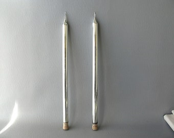 Vintage Mercury Glass Candles, tapers