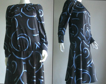 70s 80s vintage abstract dress