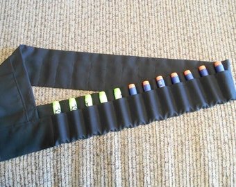 Nerf dart ammo shoulder holder bandolier solid color 3 sizes to pick from