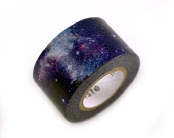 MASTE milky way galaxy Japanese masking tape - midnight purple cosmic galaxy & space - Japanese washi tape