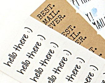 BEST. MAIL. EVER. - Set of 50 stickers in typewriter font - happy mail packaging