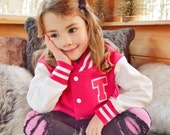 Personalized Kids Letter Jacket, Pick your own color!