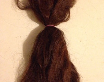 Doll hair combed suri alpaca 8 to 9 inches reddish brown Blythe/BJD/reborn 1/2 ounce