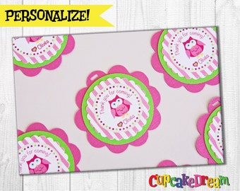 Owl Baby Shower, Favor Tag