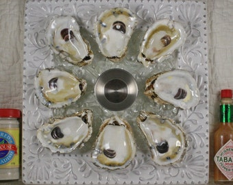 Real Oyster Shell Oyster Plate