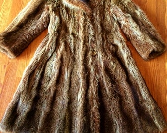 Racoon Coat...absolutely beautiful! Silver Tips? real full skins