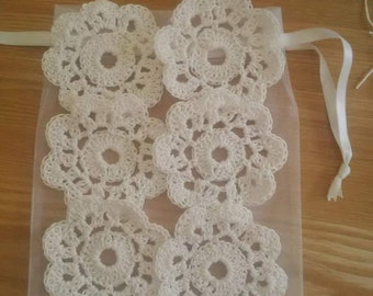 Cotton coasters ivory