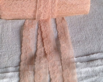 Antique Lace Vintage Trim Lingerie Lace French Pink Needlepoint Lace Old New Stock 5 ys Vintage Wedding Dolls Period Costume