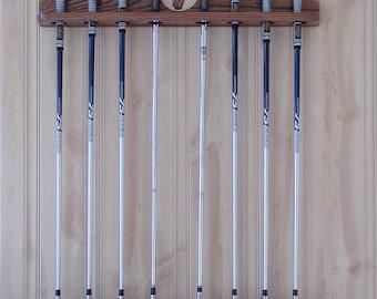 Golf Club Display Rack 8 club Personalized SolidRedOak