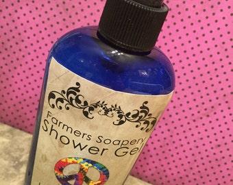Hippie Chick Shower Gel - Liquid Soap, Body Wash, Bubble Bath - 8oz - Vegan, Hypoallergenic, Cruelty-Free Soap