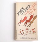James Thurber The White Deer Paperback Book With Cover Design by Milton Glaser