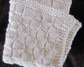 Mini wool knit baby blanket (natural color)