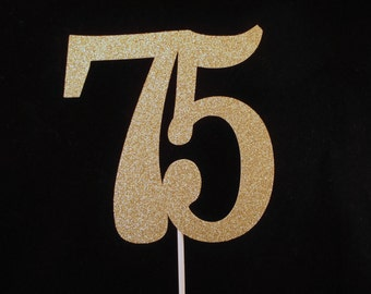 75th Cake Topper, 75th Birthday Cake Topper, 75th Anniversary Cake Topper, 75th Party Decorations