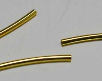 Gold plated tubes, 2 sizes - #2075