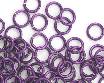 Purple aluminum jump rings, 18G, 4mm - #1036