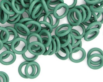 Rubber Rings: Green, 7mm #1096