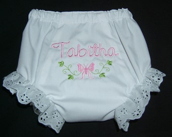 Personalized Monogrammed NEWBORN Diaper Cover