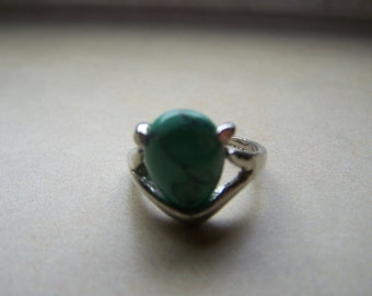Silver Turquoise Stone Ring choose Size 8