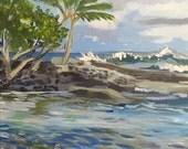 Hawaiian Tide Pool Shoreline Original Painting Painted in Hawaii