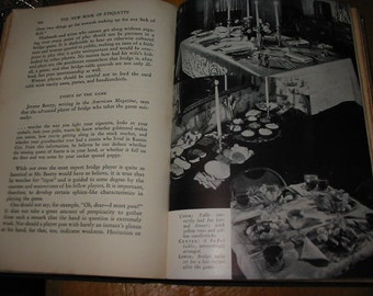 The New Book of Etiquette  1940 Vintage Etiquette Book Table Manners Social Correspondence Weddings Correct Dress Servants Table Settings