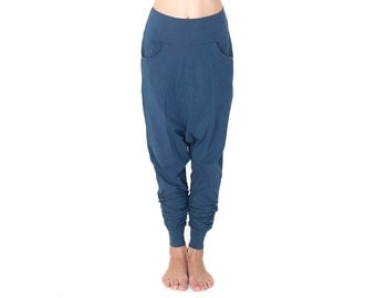 Indigo Low Crotch Pants - Low Crotch Pants - Baggy Pants - Drop Crotch Pants - Pants