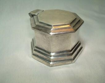 1994 Pottery Barn Pewter Hexagon Shaped Box.