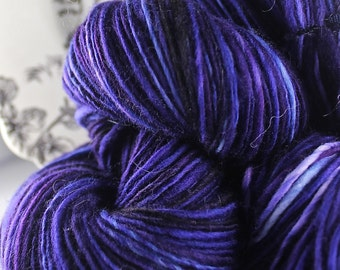 Handspun Yarn Gently Thick and Thin Single Alpaca Merino and Silk 'Grapefully Yours'