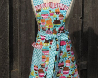 Cupcake Adult Full Apron