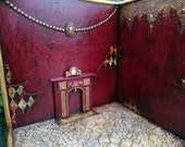 RESERVED  PART ONE Roombox Diorama Victorian Vintage Dollhouse Blythe Fireplace Monster High Dal Pullip Lati Yellow Barbie Furniture Momoko