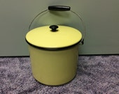 Yellow Enamel Pail from the 50's