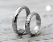 Custom for jjiyounlee92 - Argentium Silver Hammered Half Ring Set