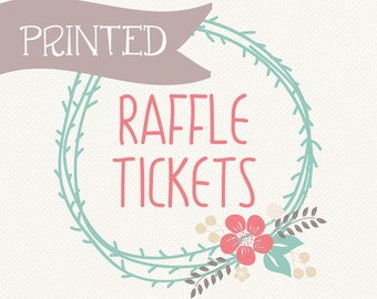 Printed Raffle Tickets / personalization available, any of my baby shower raffle ticket designs