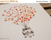 INDEPENDENCE SPECIAL Volkswagen Love Bug Fingerprint Balloon, Original Guest book thumbprint balloon (inks available separately)